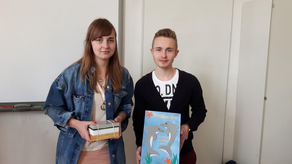 Nicolette Heinze und Christoph Martens mit Modell